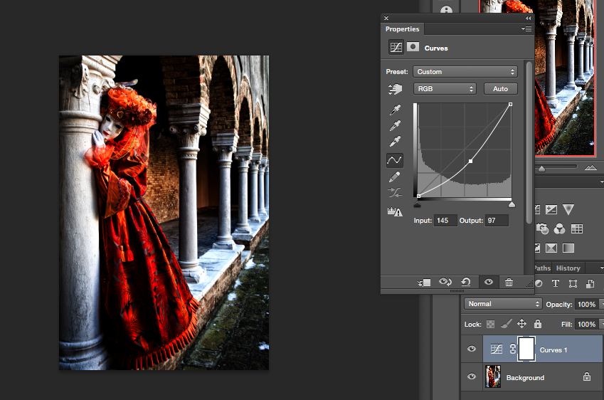 Photoshop Curve Layer and Curve