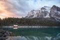 alberta,banff,beautiful,blue,canada,classic,cloudy,lake,lake louise,landscape,larch,morning,mountain,mountain range,north america,peak,reflection,snow,trees,turquoise,water body