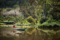 asia,asian,fisherman,gunung gede pangrango national park,indonesia,indonesian,java,lake,situ gunung,sukabumi,water body,west java,gunung gede pangrango national
