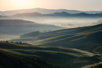 2016,May,Spring,arbia,cyprus,europe,fog,foggy,gold,golden,hills,horizontal,italy,landscape,mist,misty,morning,rolling,siena province,sunrise,tree,trees,tuscany,wheat fields