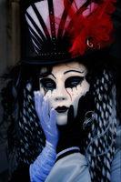 black & white, black and white, carnival, celebration, close-up, colorful, costume, daniela, daniela schmid, europe, italy, macro, mask, party, portrait, san gorgio, venice, vertical, black & whit