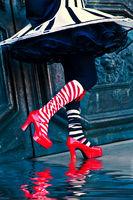 carnival, celebration, colorful, costume, daniela, daniela schmid, europe, italy, mask, party, san gorgio, shoe, venice, vertical