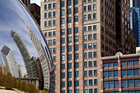 america,bean,chicago,city scape,cityscape,horizontal,il,illinois,midwest,millennium park,north america,reflection,the bean,united states,us,usa