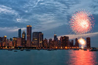 4th of july,america,chicago,city scape,cityscape,fireworks,fourth of july,horizontal,il,illinois,independence day,july 4th,july fourth,lake michigan,midwest,nor