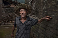 asia,asian,baisandi,baisandi village,china,chinese,environmental portait,flash,guilin,male,man,people,portrait,xing'ping,xingping