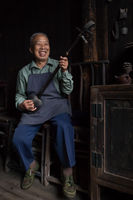 2017, asia, asian, china, chinese, elderly, environmental portait, female, guilin, male, man, old, older, people, portrait, window, window light, woman