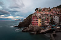 2016,May,Spring,blue hour,cinque terre,city scape,cityscape,europe,horizontal,italy,landscape,liguria,long exposure,morning,riomaggiore,sunrise,twilight
