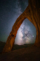 arch, corona arch, evening, long exposure, milky way, moab, night, north america, southwest, stars, united states, utah
