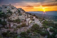 beautiful,brilliant,europe,france,gordes,horizontal,southern,sunrise