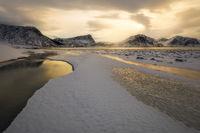 2017, afternoon, beach, beautiful, coast, europe, evening, haukland beach, ice, lake, landscape, lofoten, majestic, mountain, mountain range, norway, peak, scandinavia, scenic, seascape, snow, snowy,