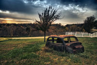 HDR,america,antique,car,crumbling,dilapidated,elderly,galena,horizontal,il,illinois,midwest,north america,old,older,rusty,united states,us,usa