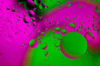 bubble,close-up,colorful,green,horizontal,macro,oil,oil and water,pink,water,water shot
