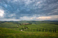 2016,May,SKY,Spring,asciano,clouds,cyprus,europe,evening,hills,horizontal,italy,la foce,landscape,montepulciano,road,rolling,siena province,sunset,tree,trees,tuscany,wheat fields,zig-zag,zig-zagging