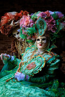 carnival, celebration, colorful, costume, couple, europe, italy, mask, party, venice, vertical