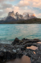 andes mountains,beautiful,cerro paine grande,chile,hosteria pehoe,lago pehoé,lake,landscape,los cuernos,morning,mountain,mountain range,patagonia,peak,snow,south america,sunrise,torres del paine natio