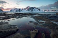 2019, europe, landscape, lofoten, norway, scandinavia, snow, vestvågøy, vikten, winter