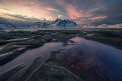 europe, landscape, lofoten, morning, norway, scandinavia, snow, vestvågøy, vikten, winter