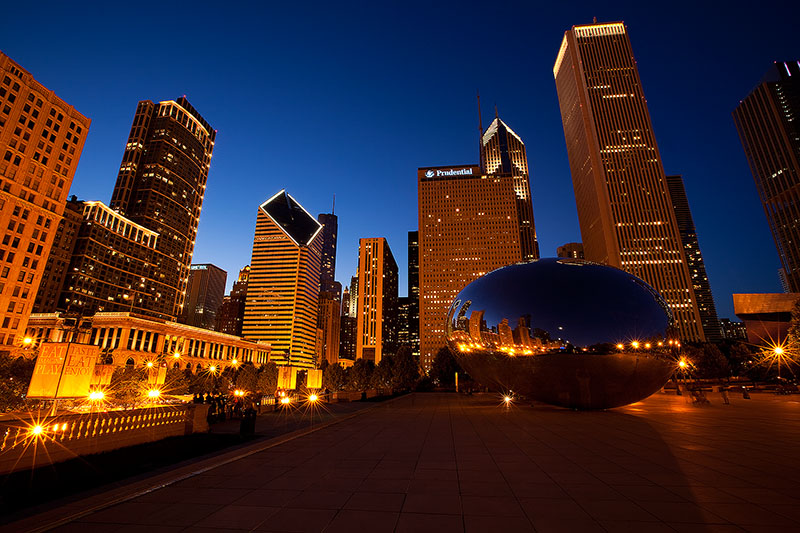 america,bean,chicago,city scape,cityscape,horizontal,il,illinois,midwest,millennium park,north america,the bean,united states,us,usa