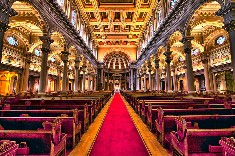 HDR,america,building,california,cathedral,church,city scape,cityscape,horizontal,ignatius,north america,saint ignatius church,san francisco,st. ignatius,united stat
