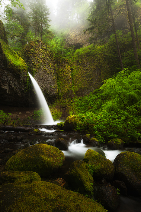 beautiful,columbia river gorge,north america,northwest,oregon,pacific northwest,ponytail falls,rock,stream,united states,vertical,water body,waterfall