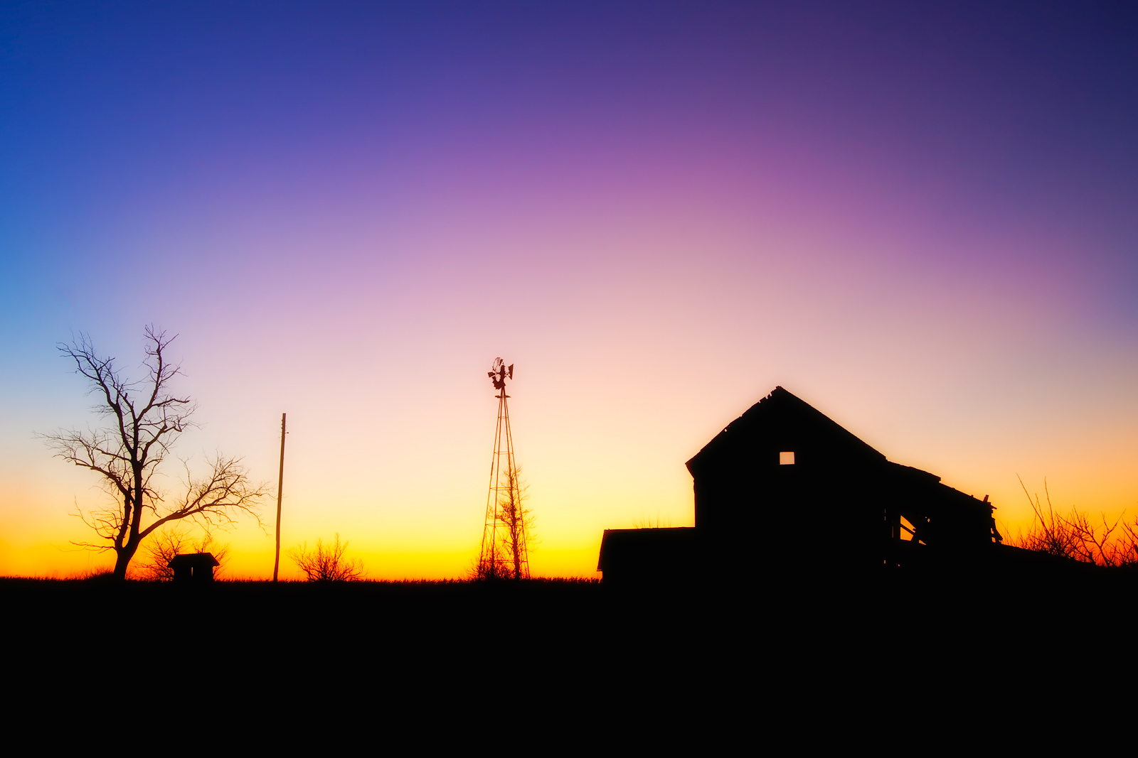 america,barn,beautiful,building,farm,highway 55,horizontal,il,illinois,midwest,mill,north america,rural,sun,sunset,twilight,united states,us,usa,windmill, photo