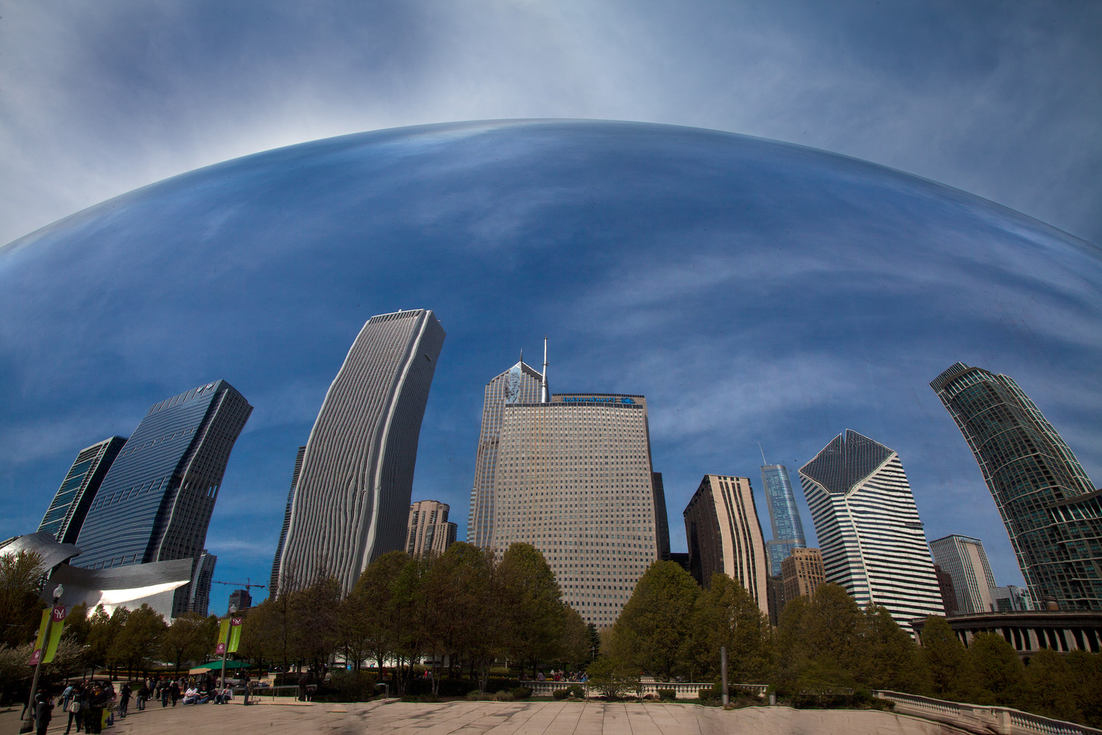 america,bean,chicago,city scape,cityscape,horizontal,il,illinois,midwest,millennium park,north america,reflection,the bean,united states,us,usa, photo