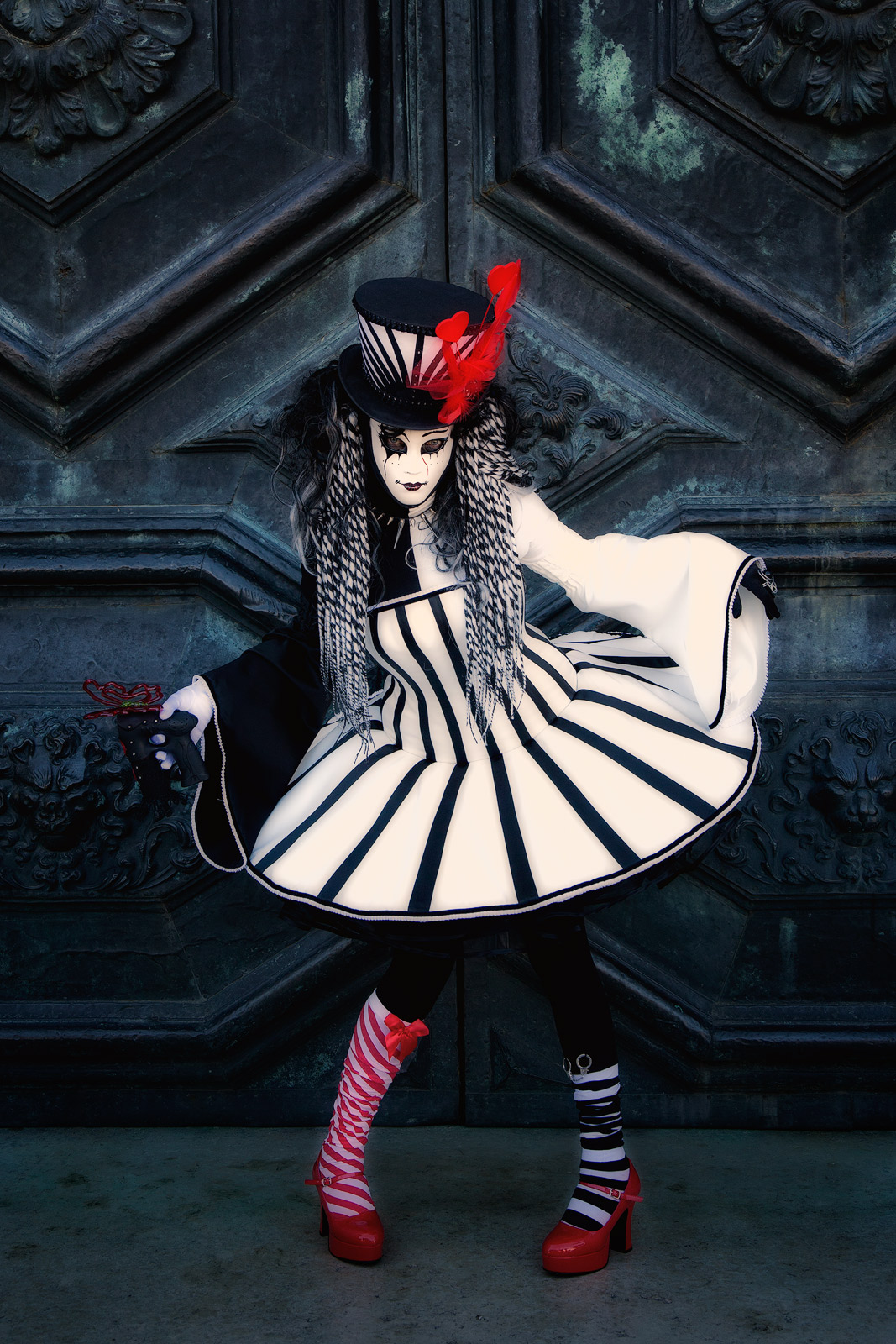 carnival, celebration, colorful, costume, daniela, daniela schmid, europe, italy, mask, party, san gorgio, venice, vertical, photo