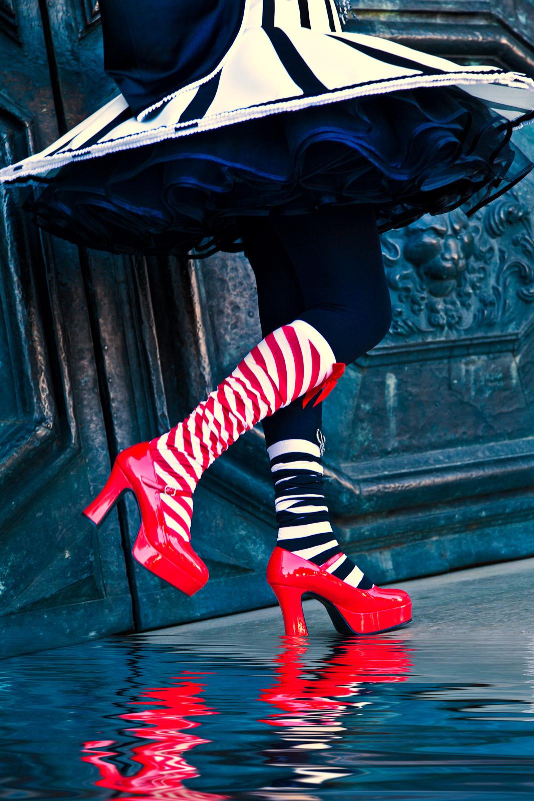 carnival, celebration, colorful, costume, daniela, daniela schmid, europe, italy, mask, party, san gorgio, shoe, venice, vertical, photo