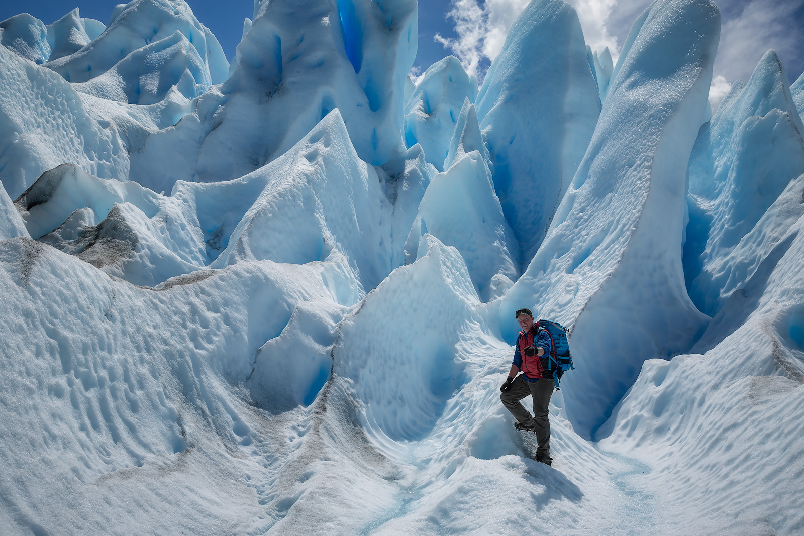Spring, afternoon, andes mountains, argentina, beautiful, blue, glacier, hiking, ice, landscape, los glaciares national park...