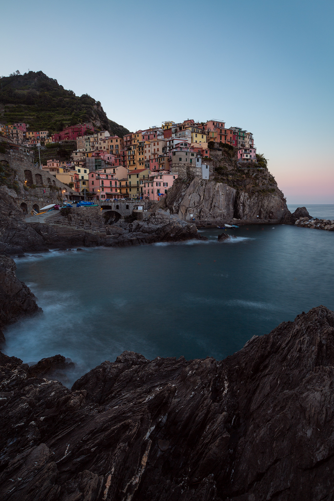 2016,May,Spring,cinque terre,europe,italy,liguria,long exposure,manarola,morning,portrait,sunrise,vertical, photo