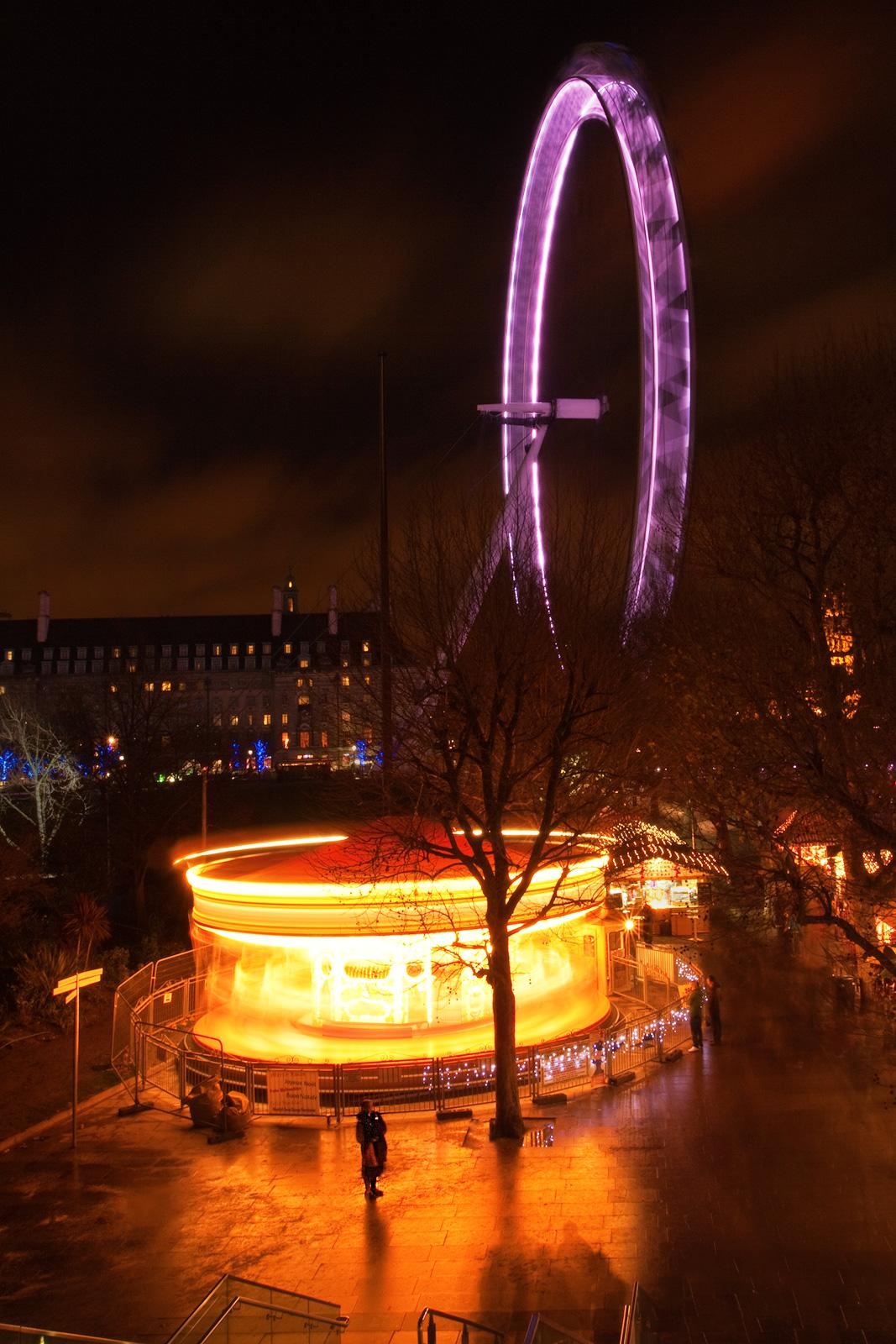 britain,city scape,cityscape,england,europe,eye,fast,ferris wheel,intense,intensity,london,london eye,long exposure,motion,, photo