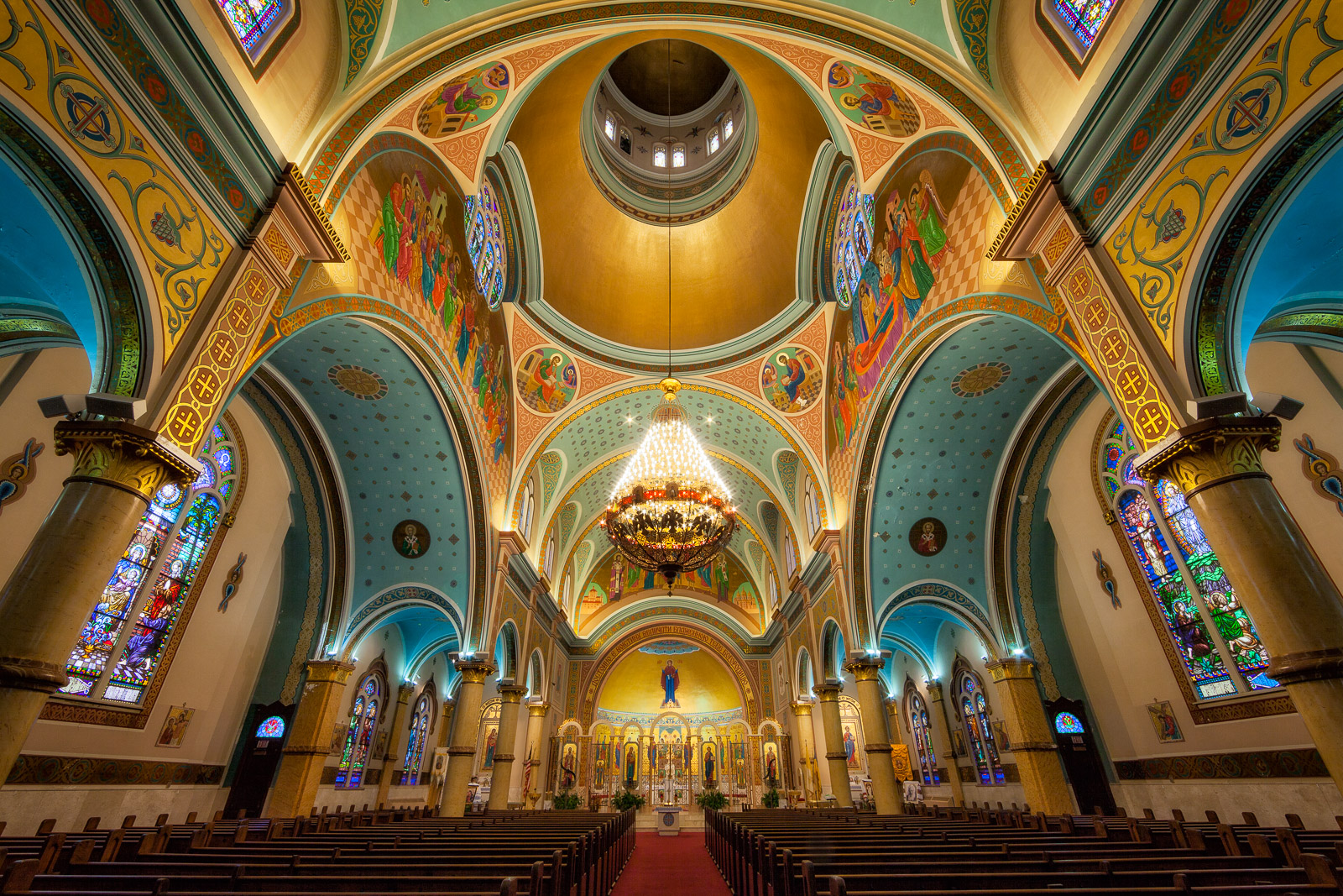 building,cathedral,chicago,church,illinois,midwest,nicholas ukrainian cathedral,north america,united states, saint nicholas, st nicholas, catholic, photo