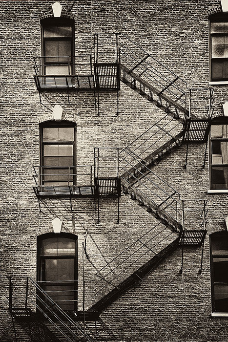 america,black & white,black and white,chicago,city scape,cityscape,fire escape,il,illinois,midwest,north america,staircase,stairs,stairway,stairwell,structure, photo