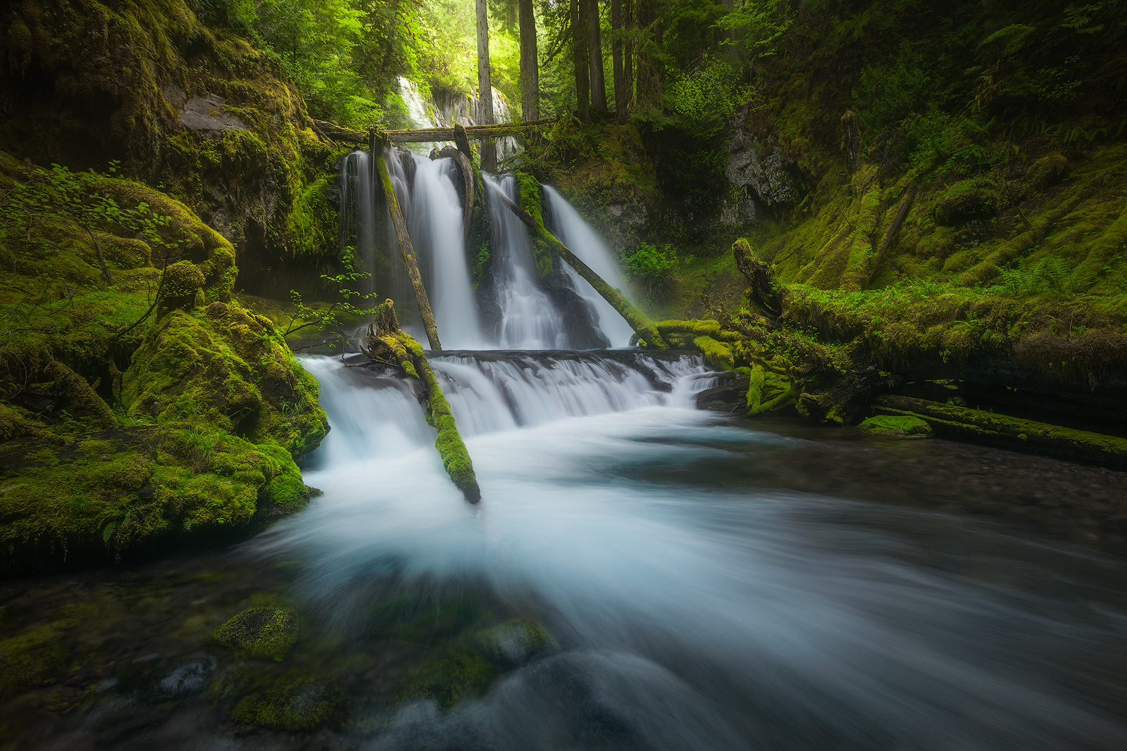 beautiful, columbia river gorge, horizontal, north america, northwest, oregon, pacific northwest, panther creek, panther creek falls, united states, water body, waterfall, photo
