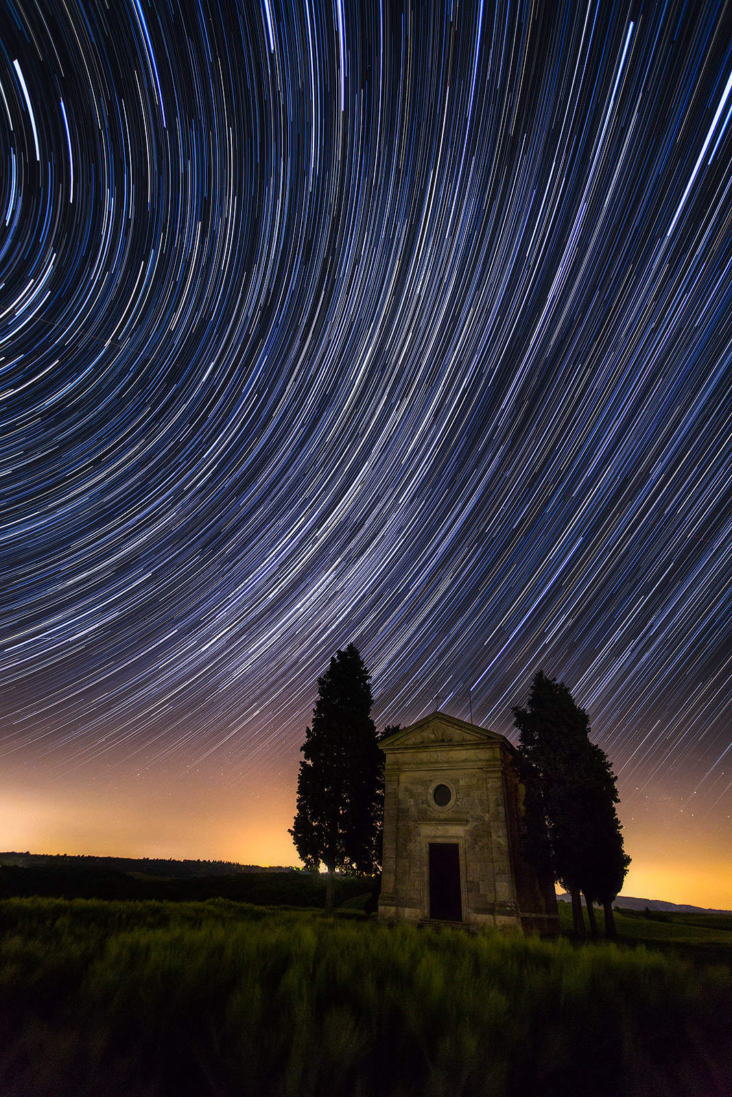 2016,May,Spring,cyprus,europe,hills,italy,landscape,milky way,night,portrait,rolling,star,star trail,stars,trail,tree,trees,tuscany,val d'orcia,val dorcia,vertical,vitaleta church,wheat fields, photo