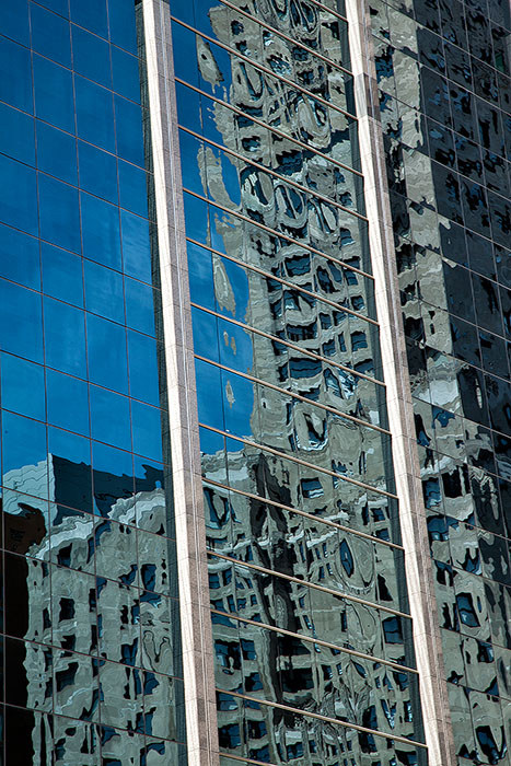 Window reflection in a Chicago skyscraper
